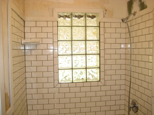 Shower! Done! With grout!