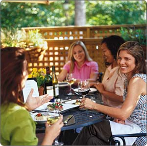 Friends in the Garden Dining Al Fresco