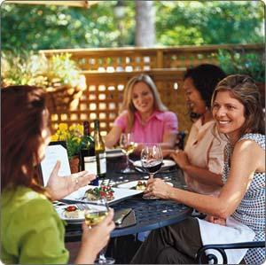 Friends in the Garden Dining Al Fresco