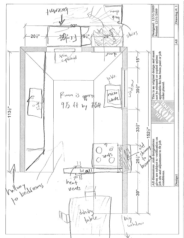 plan kitchen cabinet layout
