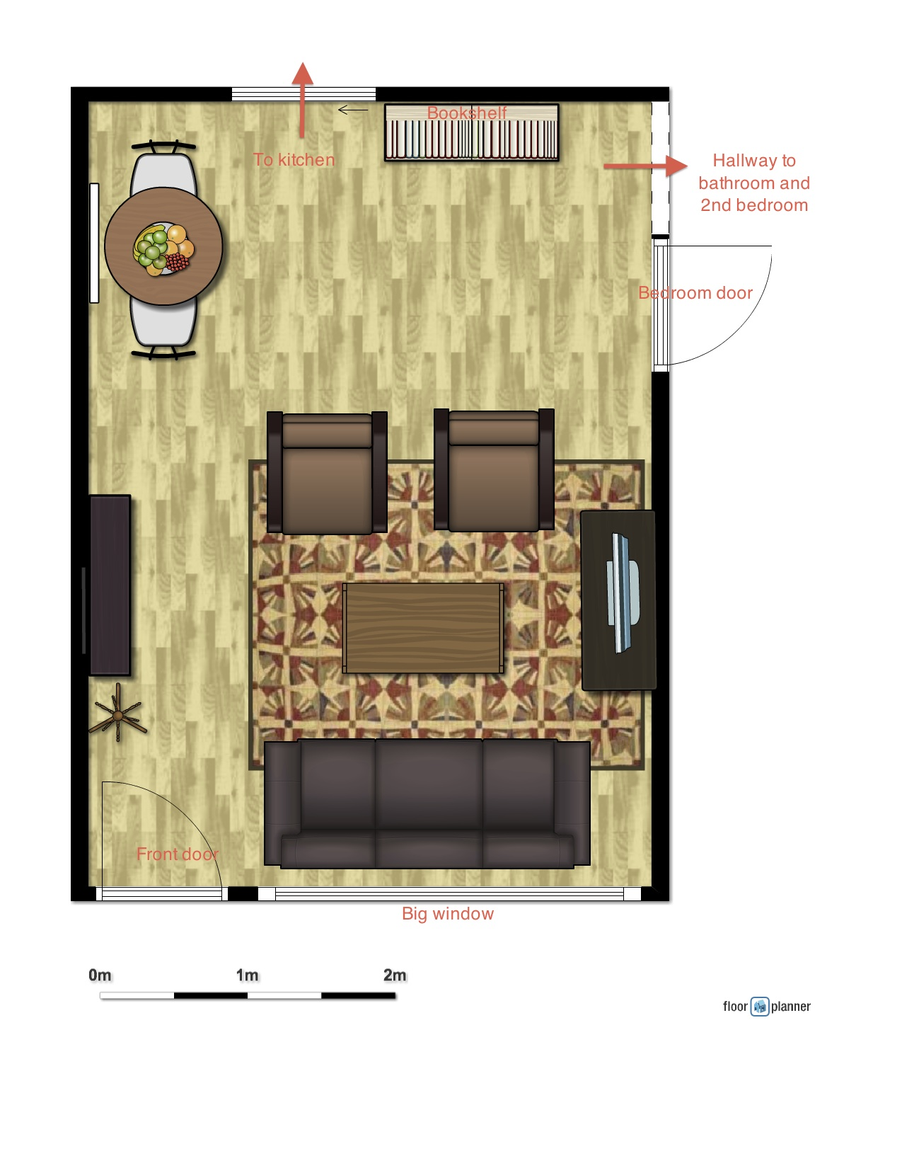 Open floorplan challenges hip house girl for Small living room floor plan